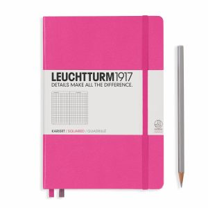 notebook-medium-a5-hardcover-249-numbered-pages-squared-new-pink