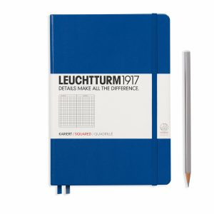 notebook-medium-a5-hardcover-249-numbered-pages-squared-royal-blue