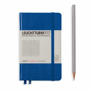 notebook-pocket-a6-hardcover-185-numbered-pages-squared-royal-blue