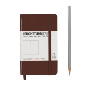 notebook-pocket-a6-hardcover-185-numbered-pages-dotted-chocolate