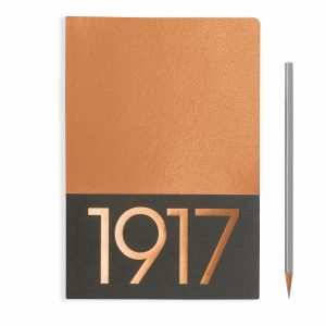 jottbook-medium-a5-60-pages-plain-copper-with-copper-edges-pack-of-two