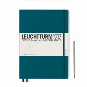 notebook-master-slim-a4-hardcover-121-numbered-pages-plain-pacific-green