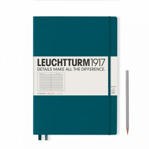 notebook-master-slim-a4-hardcover-121-numbered-pages-ruled-pacific-green