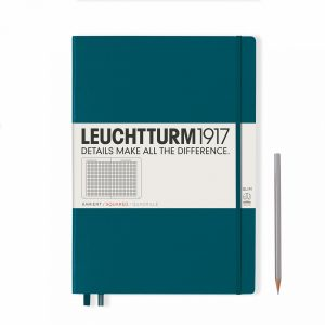 notebook-master-slim-a4-hardcover-121-numbered-pages-squared-pacific-green
