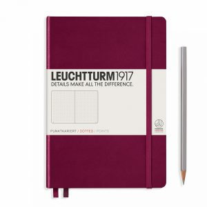 notebook-medium-a5-dottedhardcover-251-numbered-pages-port-red