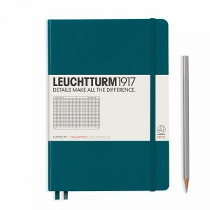 notebook-medium-a5-quadrile-hardcover-251-numbered-pages-pacific-green