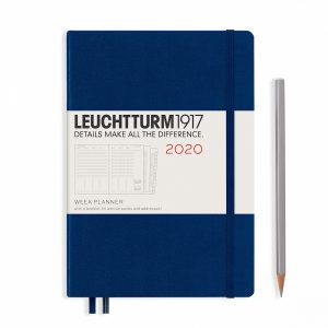 week-planner-medium-a5-2020-with-extra-booklet-navy-english
