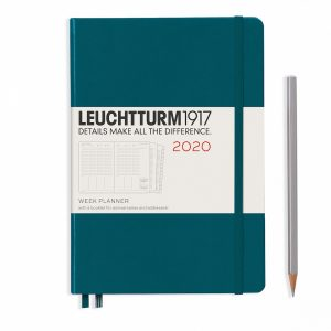 week-planner-medium-a5-2020-with-extra-booklet-pacific-green-english