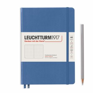 notebook-medium-a5-hardcover-251-numbered-pages-denim-dotted