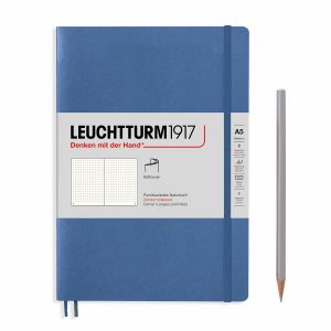 notebook-medium-a5-softcover-123-numbered-pages-denim-dotted